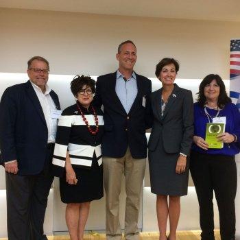 Iowa Governor Kim Reynolds Meets Chamber Members