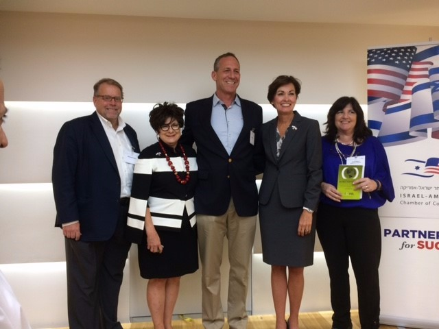Iowa Governor Kim Reynolds with Chamber CEO Oded Rose, Debi Durham, and Greg Brisco, U.S. Embassy Commercial Attache